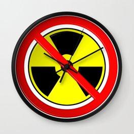 No Nuclear Symbol Wall Clock