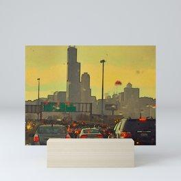 Friday Night Traffic Mini Art Print