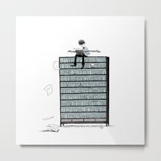 LITTLE DREAMS, BIG BOOKCASE Metal Print