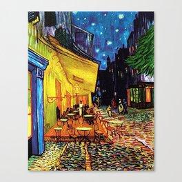 Café Terrace at Night Painting by Vincent van Gogh Canvas Print