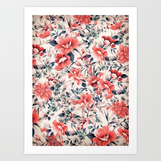 FLORAL PATTERN 7 Art Print