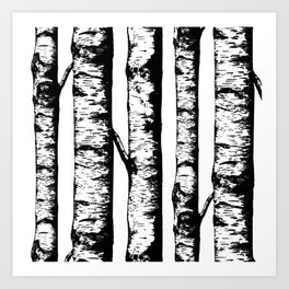 Birch Pattern Large Art Print