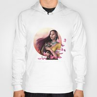 pocahontas Hoodies featuring Pocahontas by SEA Digital Art