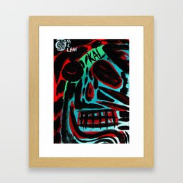 Kal - Abstract expressionism portrait Framed Art Print