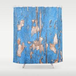 Flaky Blue 61 Shower Curtain
