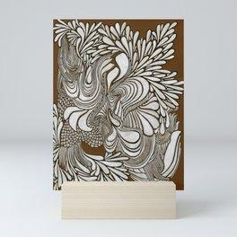 White Pattern Mini Art Print