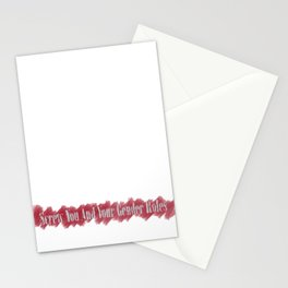 Screw You and Your Gender Roles Stationery Cards