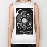 vintage camera Biker Tanks featuring Vintage Camera by Mark Alder