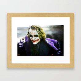 The Joker (TDK) Digital Painting  Framed Art Print