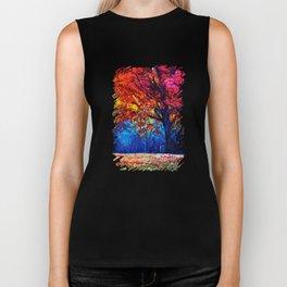 Tardis Tree Art Blossom Biker Tank