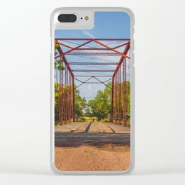 Stephens Bridge, North Dakota, 4 Clear iPhone Case