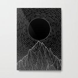 The dark sun over the mountains Metal Print