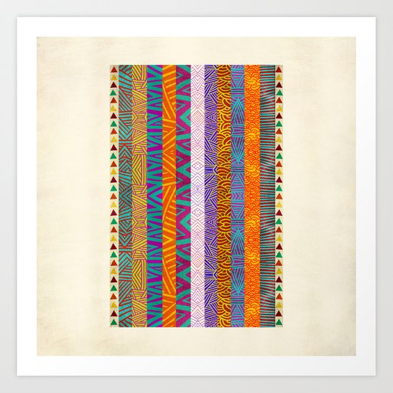 Tribal Stripes Art Print