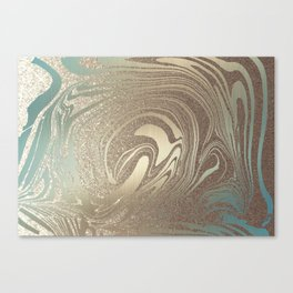 Mermaid Gold Wave 2 Canvas Print