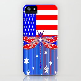 Red-White & Blue 4th of July Celebration Art iPhone Case