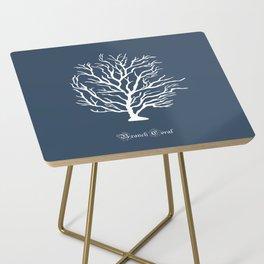 AFE Branch Coral, Blue Grey Side Table