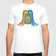digital jar SMALL Mens Fitted Tee White