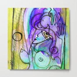 Abstract Nude Goddess No. 40C by Kathy Morton Stanion Metal Print
