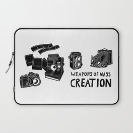 Weapons Of Mass Creation - Photography (clean) Laptop Sleeve