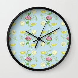 tropical fruit Wall Clock