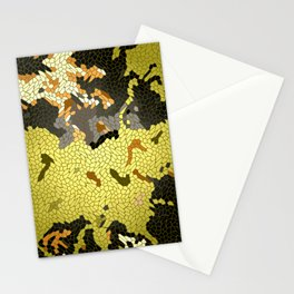 Abstract leaves mosaik Stationery Cards