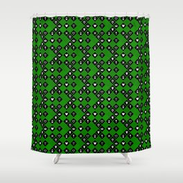 Kingdom Hearts III - Pattern - Green Shower Curtain