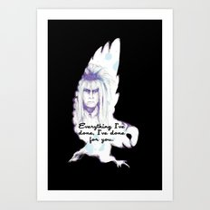 Labyrinth Everything I've Done Owl Art Print