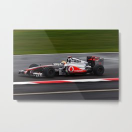 Lewis Hamilton - Mclaren F1 car Silverstone 2011 Metal Print