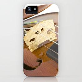 Violin close-up of bridge iPhone Case