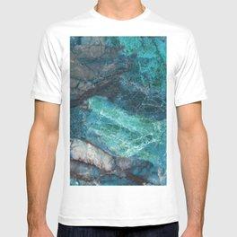 Cerulean Blue Marble T-shirt