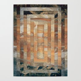 Cave abstraction Poster