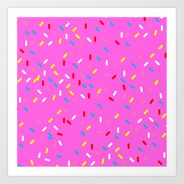 Pink Sprinkled Art Print