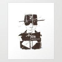 amelie Art Prints featuring Amelie by Lisbeth Lazala
