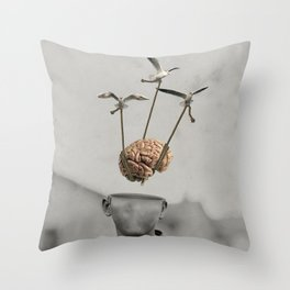Floating Mind Throw Pillow