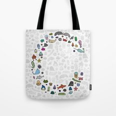 letter c - sea creatures Tote Bag