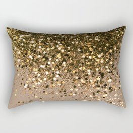 Sparkling Gold Brown Glitter Glam #1 (Faux Glitter) #shiny #decor #art #society6 Rectangular Pillow