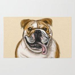 Smiling Bulldog Rug