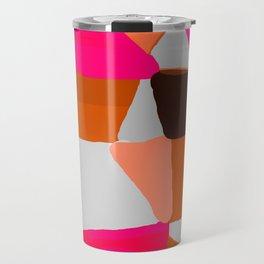 Abstract in Pink, Brown and Grey Travel Mug