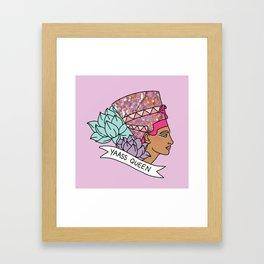 Yas Queen Eyptian Broad City Print Framed Art Print