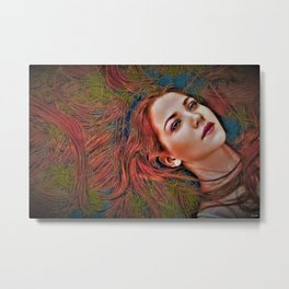 "All Night Forever ""Female Portrait"" by Jeanpaul Ferro Metal Print"