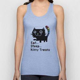 Eat, Sleep, Kitty Treats Unisex Tank Top