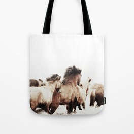 WILD AND FREE 2 - HORSES OF ICELAND Tote Bag