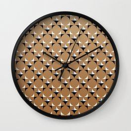 Mod Brown Wall Clock