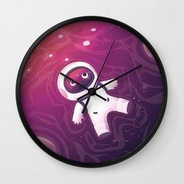 Astronaut Wandering In Galaxy Wall Clock