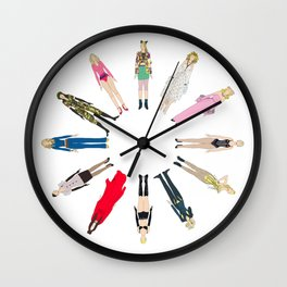 Outfits of Madge Fashion Wall Clock