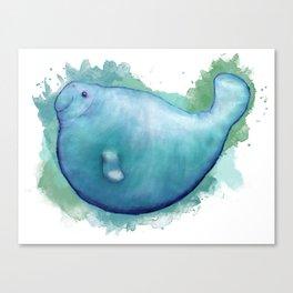 Big Fat Manatee Canvas Print