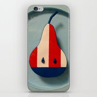 pear iPhone & iPod Skins featuring Pear by Jk & Frax