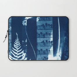 Fragments of the Past (34), art print, collage, blue print, cyanotype print, wall art, wall decor Laptop Sleeve