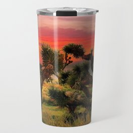 Sunset at Joshua Tree National Park, California, USA Travel Mug
