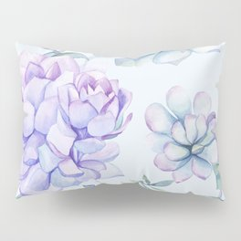 Wonderful Succulents Light Blue Pillow Sham